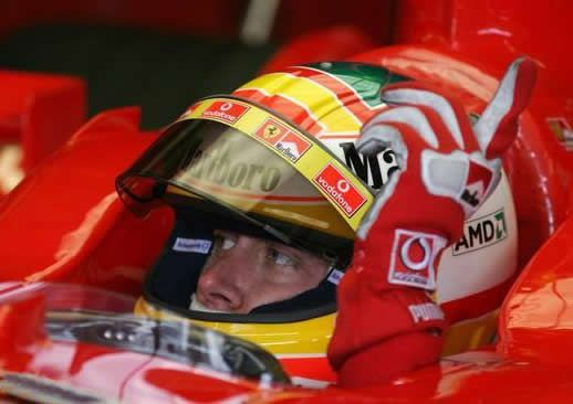 Disappointing: Ferrari driver Luca Badoer