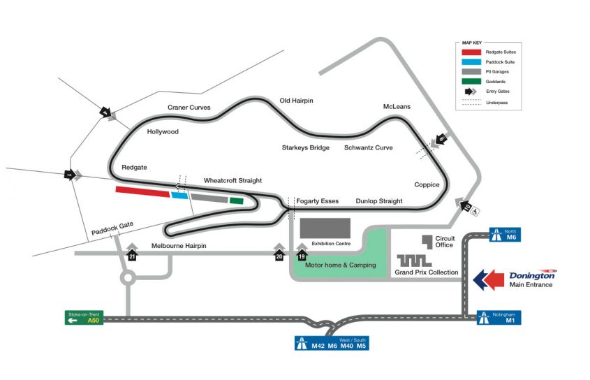 Donington Park Layout