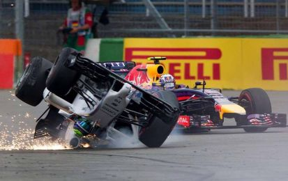 GP Germania F1 2014, l'incidente di Massa [VIDEO]