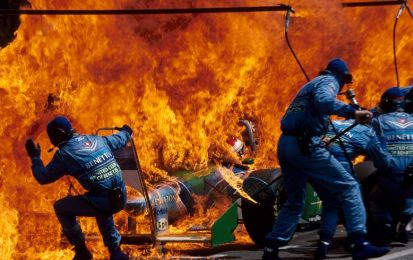 GP Germania F1: l'incendio di Verstappen ad Hockenheim 1994 [VIDEO]