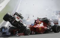 GP Belgio F1 2012: Grosjean punito con 1 GP di squalifica per l'incidente al via