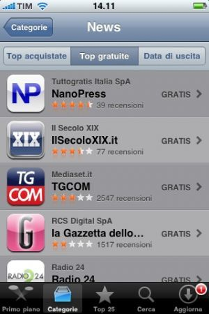 App di Nanopress iPhone