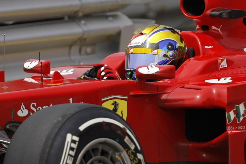 ferrari crash test formula 1 2012