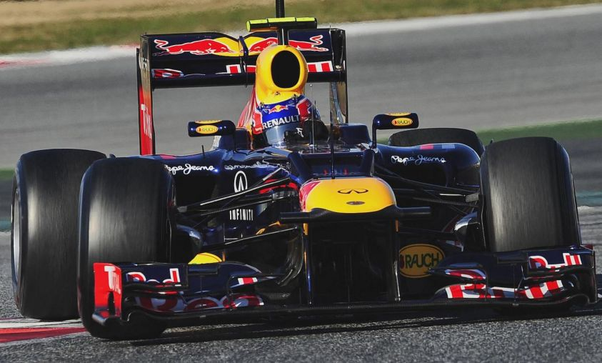 Mark Webber, barcellona test f1 2012