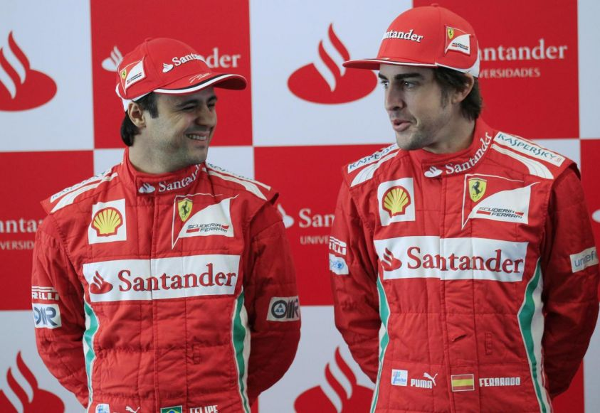 test mugello f1 2012 - ferrari, alonso e massa