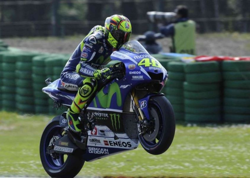 Rossi nel Warm Up