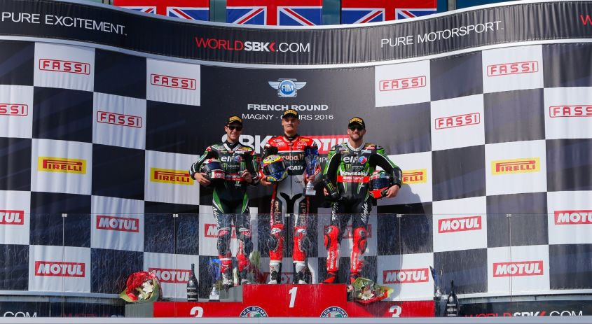SBK Magny Cours 2016, il podio