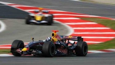 Red Bull RB3 test BArcellona F1