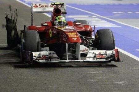 felipe massa lewis hamilton incidente singapore 2011