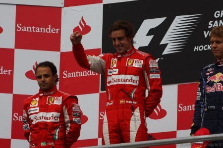 F1, Ferrari: podio Germania 2010