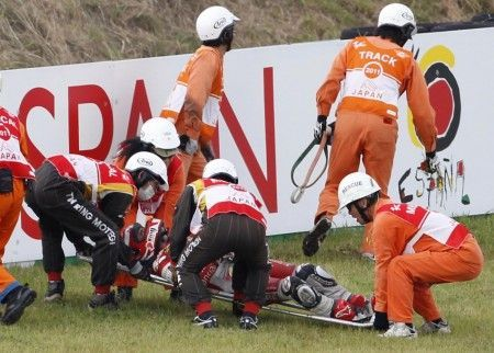 incidente barbera motegi