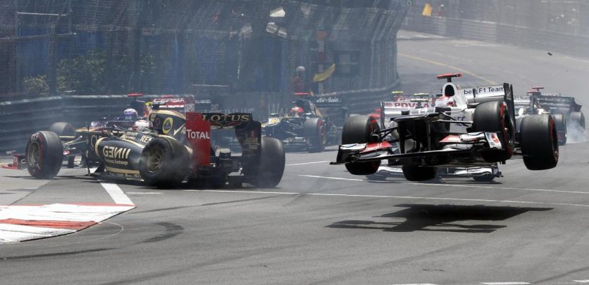 incidente grosjean monaco f1 2012