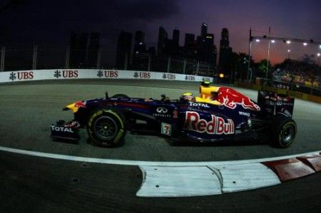 mark webber prove libere gp singapore f1 2011 red bull