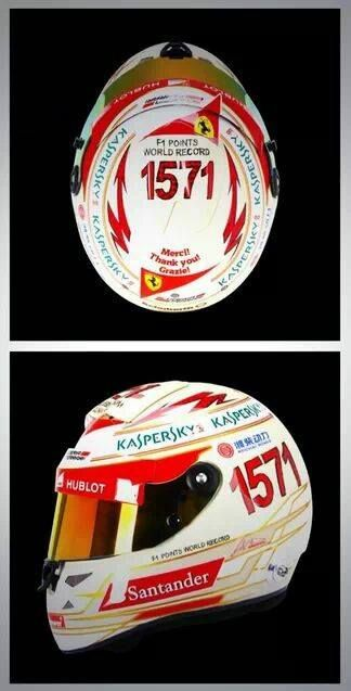 Il casco celebrativo di Alonso GP India f1 2013