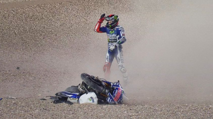 Jorge Lorenzo incidente Qatar