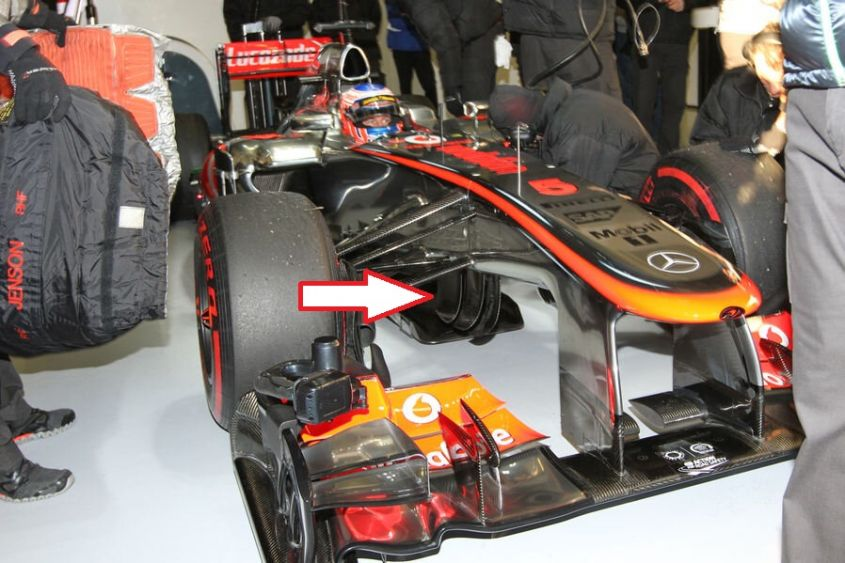 McLaren Button test