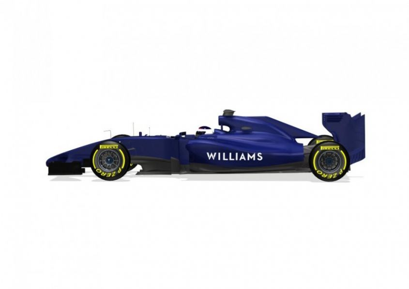 Nuova WIlliams Formula 1 2014 laterale
