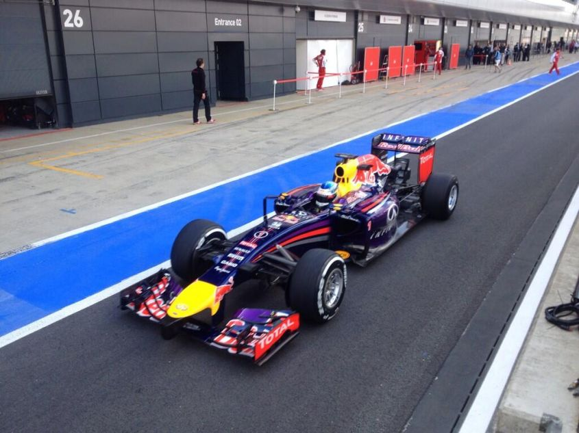 Red Bull test Silverstone F1 2014