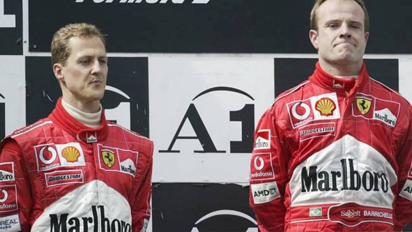 Barrichello e Schumacher