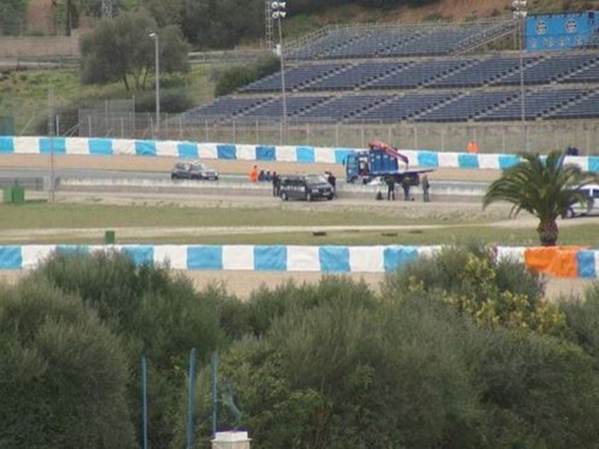 Test Jerez Day 3, Rosberg fermo