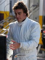 Fernando Alonso McLaren Mercedes test 2006