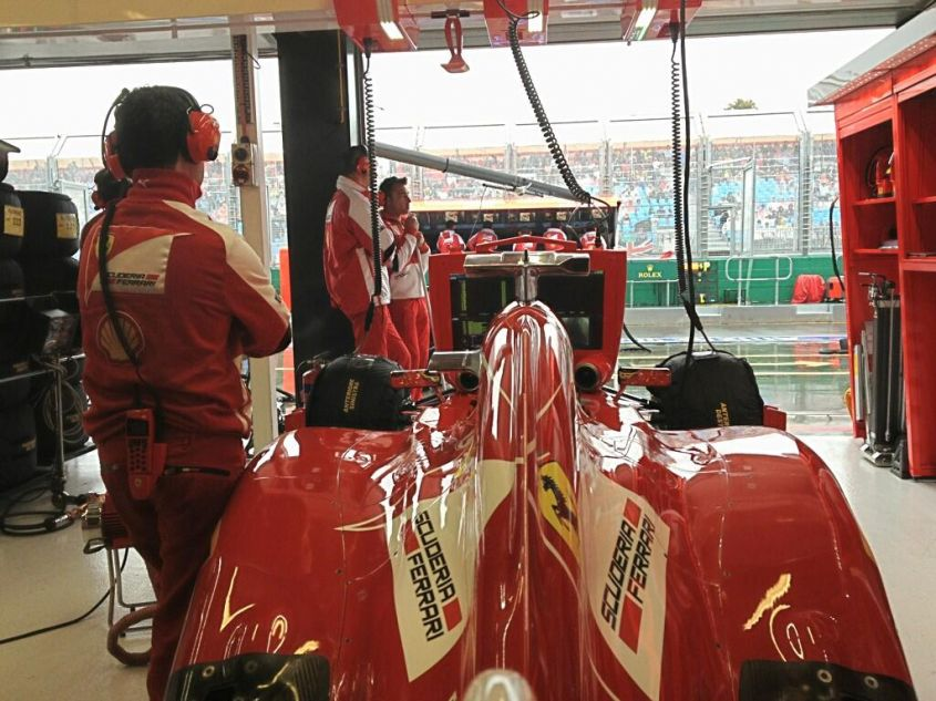 box ferrari qualifiche gp australia 2013