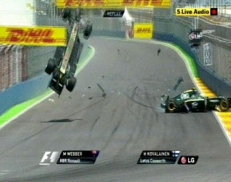 gp europa f1 2010 incidente webber