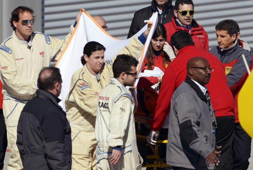 Test F1 Barcellona: Alonso in ospedale,