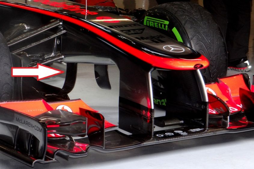 mclaren turning vanes barcellona