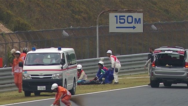 MotoGP Motegi 2015 incidente Alex De Angelis