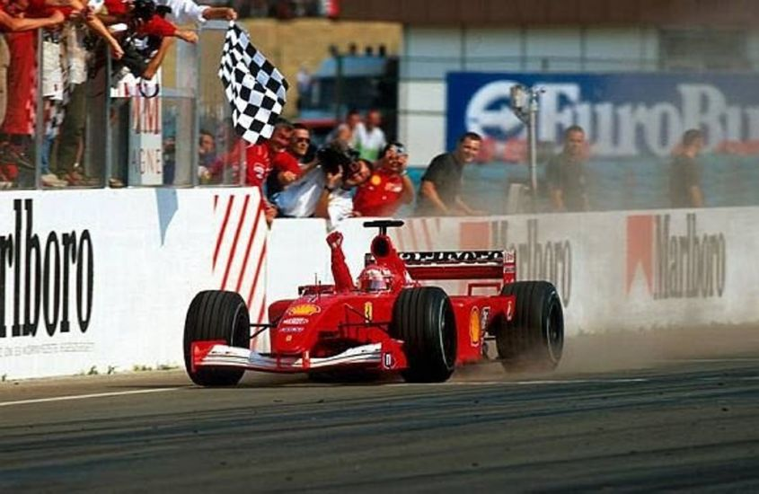 Schumacher Hungaroring 2001
