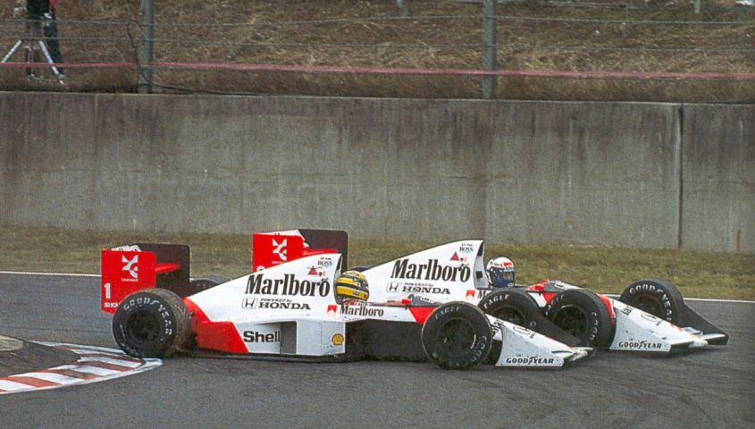 fastback gp giappone 1989 prost e senna incidente