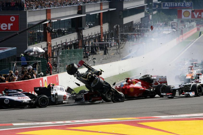 Ferrari f1 incidente